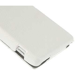 JUJEO Lychee Leather Vertical Flip Case for Sony Xperia Z2/D6502/D6503/D6543 - Non-Retail Packaging - White