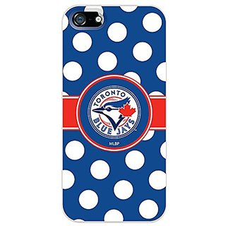 Coveroo Blue Jays Design on Thinshield Snap-On Case for iPhone 5/5s - Retail Packaging - White