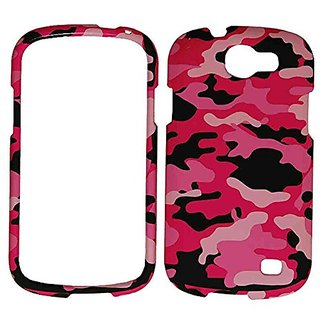 Cell Armor Snap-On Protective Cover for Samsung Galaxy Express/i437 - Retail Packaging - Pink/Black/White Camo