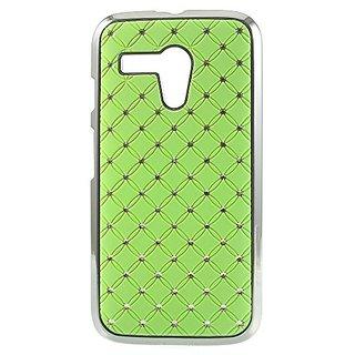JUJEO Starry Sky Rhinestone Plastic Cover for Motorola Moto G DVX XT1032 - Non-Retail Packaging - Green