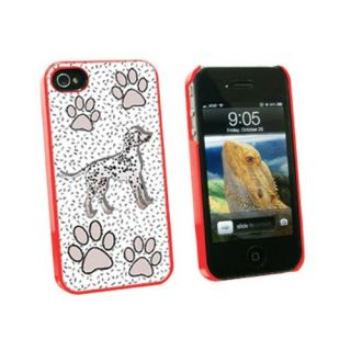 Graphics and More Dalmatian of Distinction - Snap On Hard Protective Case for Apple iPhone 4 4S - Red - Carrying Case