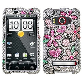 Asmyna HTCEVO4GHPCDM167NP Dazzling Luxurious Bling Case for HTC EVO 4G - 1 Pack - Retail Packaging - Fantastic...