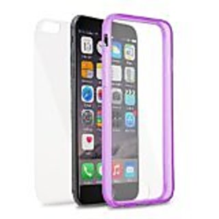 Eagle Cell Transparent TPU 2 Piece Screen Protective Case for Apple iPhone 6 Plus - Retail Packaging - Purple