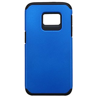 Asmyna Cell Phone Case for Samsung Galaxy S7 - Retail Packaging - Black/Blue