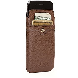 Sena Ellie UltraSlim, Saffiano thin leather sleeve pouch for iPhone 6 PLUS / 6s PLUS - Brown