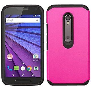 Zizo Phone Case for Motorola Moto G 2015/G3 - Retail Packaging - Black/Hot Pink