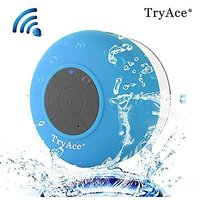 TryAce Bluetooth Waterproof Speaker With Built In Mic & Dedicated Suction Cup (Blue)