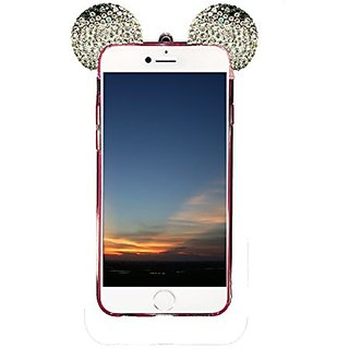 IPhone 6s Case, Wenkoni Flexible Mickey 3D Bling Crystal Ears TPU Soft Shell Case for Apple iphone 6S 4.7/iphone 6 4.7 i