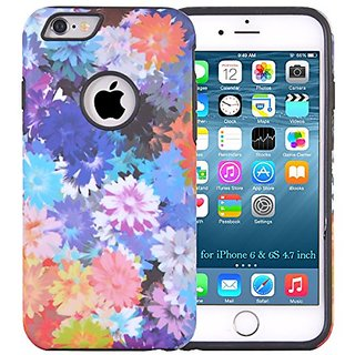 iPhone 6S, Dimaka Cute Design Case with Floral Pattern Print and Full Body Protection for iPhone 6S 4.7 inch (Abstract D