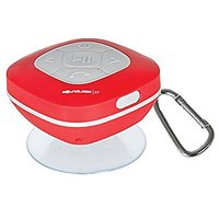 SoundLogic AWS-12/2970R Bluetooth Shower Speaker With FM Radio And Carabiner (Red)
