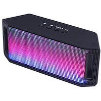 IPanda Portable Bluetooth Speaker Hi-Fi Portable Wireless Stereo Speaker With LED Visual Modes & Build-In Microphone Sup
