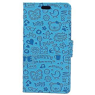 CGJY Wallet PU Flip Leather Case Tpu Cover for BLU Life 8XL Phone Bags Skyblue