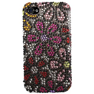 Reiko Diamond Protector Cover for iPhone 4G - Retail Packaging - Big Color Flowers