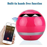 Bluetooth Speaker With Microphone For Handfree Heavy Bass, Rose Red