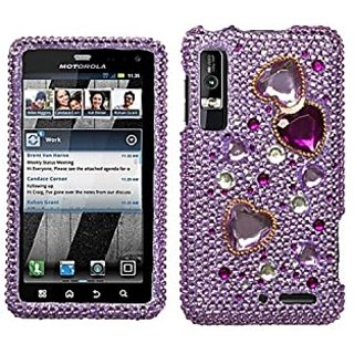 Asmyna MOTXT862HPCDM192NP Luxurious Dazzling Diamante Case for Motorola Droid 3 XT862 - 1 Pack - Retail Packaging - Love