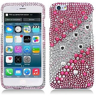 AIMO WIRELESS PDAFor Apple iPhone 6 plus 5.5 inch Luxury Full Diamond, Layer Pink