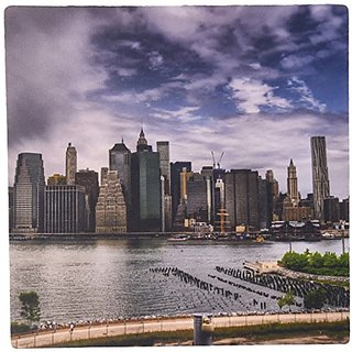 3dRose LLC 8 x 8 x 0.25 Inches Mouse Pad, Nyc Skyline East River (mp_98357_1)