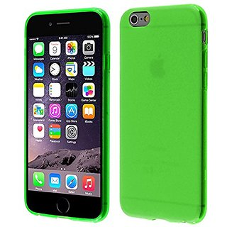 HR Wireless Frosted TPU Cover for iPhone 6 (4.7-Inch) - Retail Packaging - Neon Green
