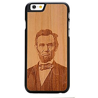 CARVED Abraham Lincoln Engraved Cherry iPhone 6/6s Black Case