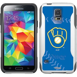 Coveroo Commuter Series Case for Samsung Galaxy S6 - Retail Packaging - Milwaukee Brewers Glove Stitch