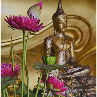 3dRose LLC 8 x 8 x 0.25 Inches Lotus Flowers, Buddha, Ayutthaya, Thailand Cindy Miller Hopkins Mouse Pad (mp_132978_1)