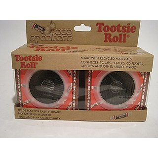 TopOne Tootsie Roll Eco Speakers Orange Made with Recycled Materials New in Box