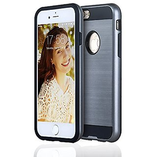 Best iPhone 6 / 6s Thick TPU Case (Grey), PC Shell & Outside Rim with Brushed Aluminum Look, High Protection or Your Mon