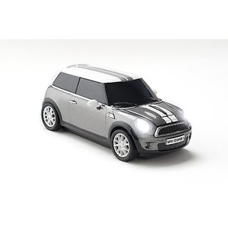 Click Car Mini Cooper S Wireless Optical Mouse - Dark Silver