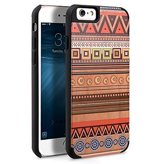 Apple iPhone 6S Plus / 6 Plus Melkco Indi Wood Cover Hand Crafted Armor Bumper Case Good Protection Slim Premium Feel St