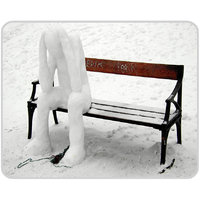 Snow Man Mouse Pad By Shopkeeda
