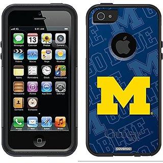 Coveroo Michigan Watermark Design Phone Case for iPhone 5/5s - Retail Packaging - Black/Black
