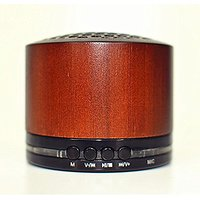 Mini Bamboo Portable Wireless Bluetooth Speaker With Enhanced Bass, Build-in Mic For Hands Free Calling, Support TF Card