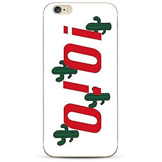iPhone 6s case, Geekmart Soft TPU Cute Letter Cactus Math Printed Cover Case 4.7 inch (A)