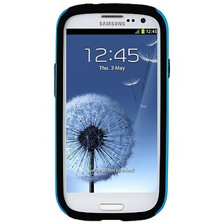 Melkco - Kubalt Type Double Layer Case for Samsung Galaxy SIII I9300 with Premium Screen Protector - (Blue/Black) - SSGY