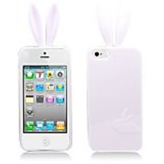 Aimo IPH5SKCR008 Unique Rabbit Skin Protective Case for iPhone 5 - 1 Pack - Retail Packaging - White