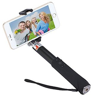 Selfie Stick, Bluetooth Selfie Stick with Adjustable Focus Function Matte Aluminium Alloy Wireless Selfie Sticks for iPh