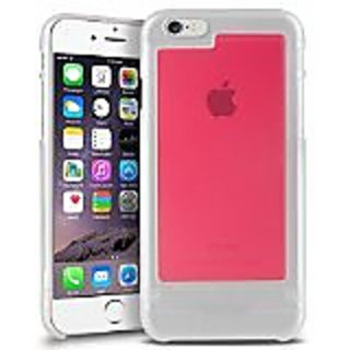 INSTEN TriTone Slim Hard Case Skin Cover with Fingerprint Free for Apple iPhone 6 - Retail Packaging - Clear/Clear Hot P