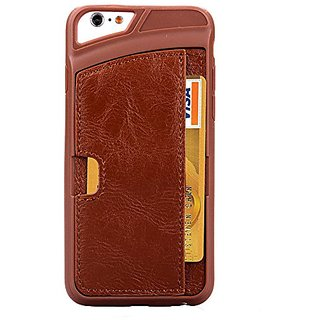 Generic Phone case For iphone 6/ iphone 6s Plus, Wallet Case PU Leather Material (Brown For Iphone 6s Plus)