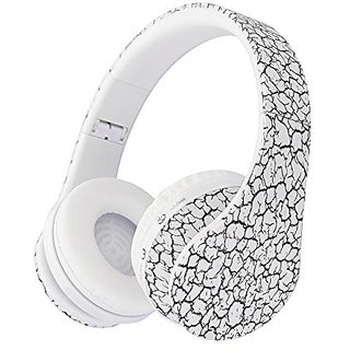 Pumpkin - Over the Ear Foldable Wireless Bluetooth Headphone with Volume Limiter, Built-in Micro Phone, Fm Stereo Radio