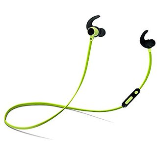 Flyingman Wireless Bluetooth Outdoor Sport Stereo Earphone with Microphone for Cellphone and Bluetooth Devices-Green&Bla