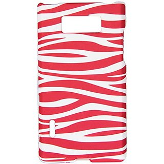 Eagle Cell PILGUS730R129 Stylish Hard Snap-On Protective Case for LG Splendor/Venice US730 - Retail Packaging - Pink Zeb