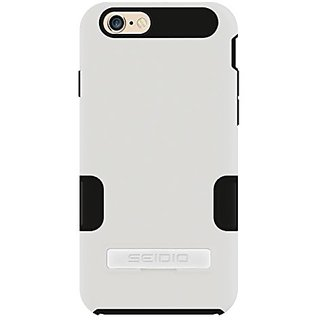 Seidio DILEX Pro Case with Metal Kickstand for Apple iPhone 6 - Retail Packaging - Glossed White