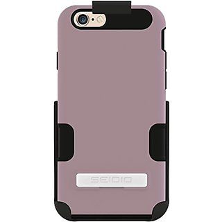 Seidio DILEX Pro Case with Metal Kickstand and Holster Combo for Apple iPhone 6 - Retail Packaging - Orchid