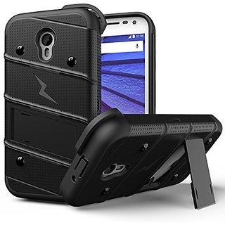 Zizo Carrying Case for Motorola Moto G3 - Retail Packaging - Black/Black/Black
