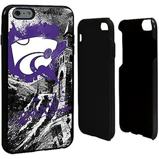 NCAA Kansas State Wildcats Paulson Designs Spirit Hybrid Case for iPhone 6 Plus, One Size, Black