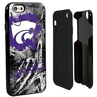 NCAA Kansas State Wildcats Paulson Designs Spirit Hybrid Case for iPhone 6, One 6, Black