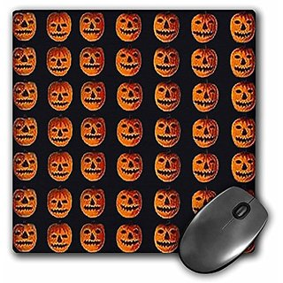 3dRose LLC 8 x 8 x 0.25 Inches Vintage Halloween Jack O Lanterns Pattern Mouse Pad (mp_6041_1)