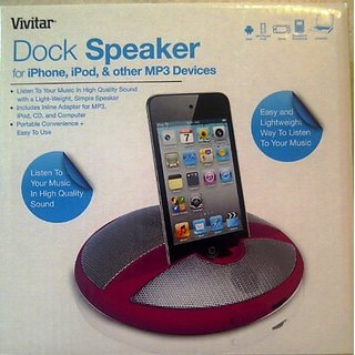 Vivitar Round Speaker with Mobile Device Holder