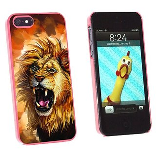 Graphics and More Fierce Lion Roar - Big Cat Africa - Snap-On Hard Protective Case for Apple iPhone 5/5s - Non-Retail Pa