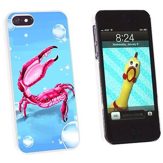 Graphics and More Crab - Sea Creature Ocean Claw Red - Snap-On Hard Protective Case for Apple iPhone 5/5s - Non-Retail P